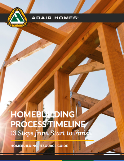 homebuilding process timeline cover